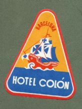 Collectable Hotel label luggage label SPAIN  #120